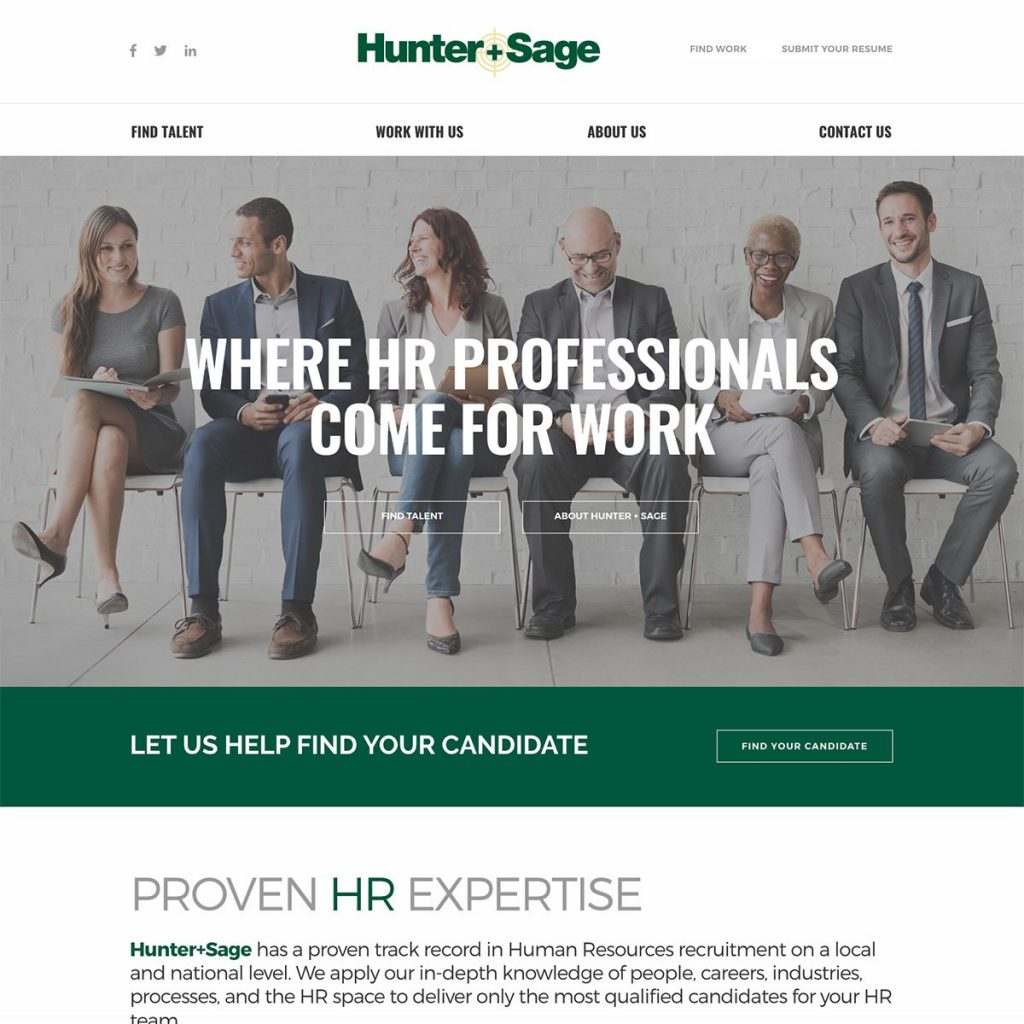 Professional web design for recruiting and staffing companies.